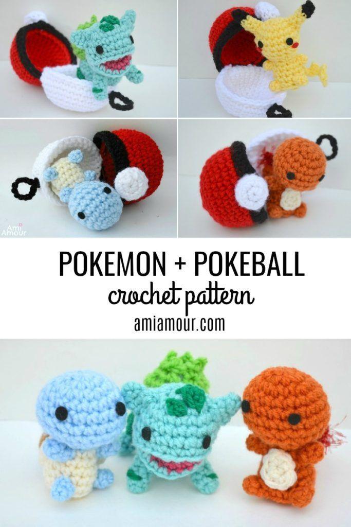 Pikachu et Pokeball Pod pattern #amigurumi #crochet #knitting #amigurumipatter …   – Gelinlik