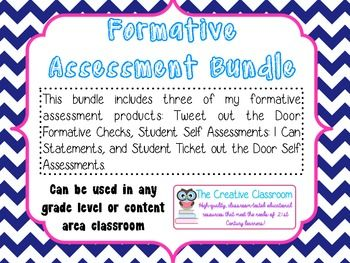 Formative Assessments And Student SelfReflections Bundle