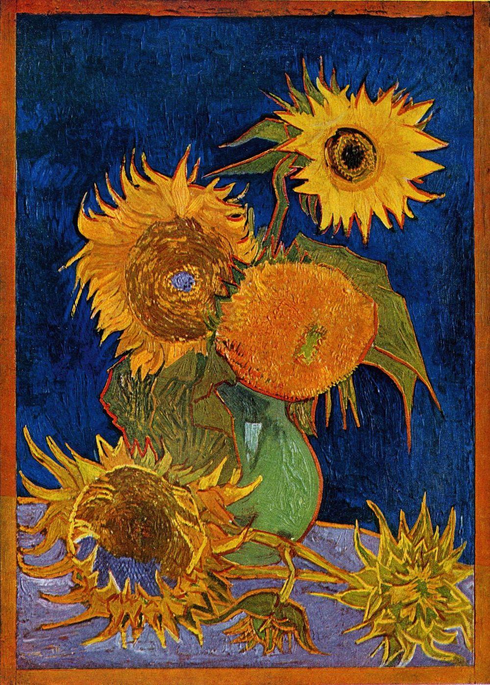 Sunflowers Van Gogh Series Wikipedia The Free Encyclopedia Van Gogh Art Van Gogh Paintings