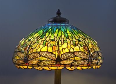 Dragonflies in stained glass tiffany style lamp i would love one louis comfort tiffany stained glass lamp shade the holtzman collection mozeypictures Image collections