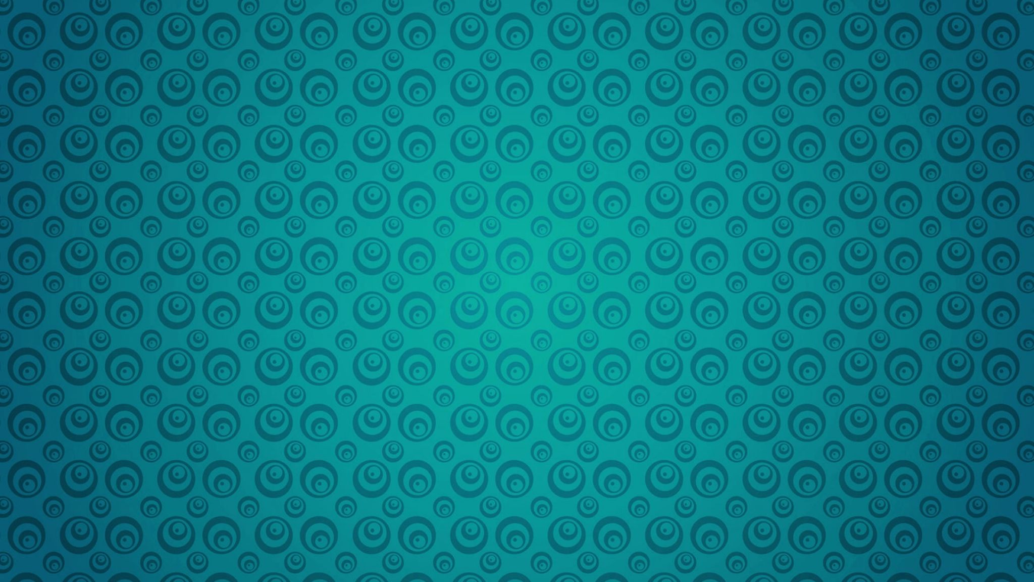 2048x1152 Wallpaper Circles Turquoise Texture Pattern Surface