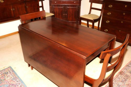 Craftique Drop Leaf Dining Table With Six Chairs