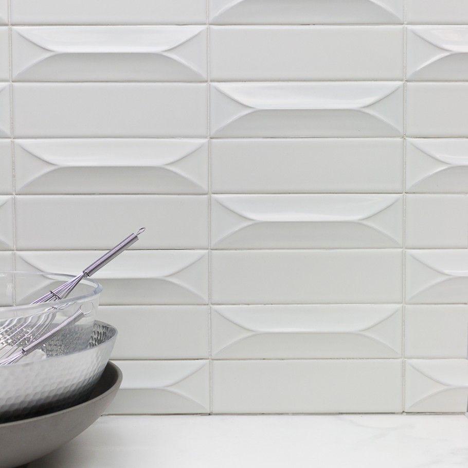 Byzantine bianco 3d ceramic tile new home kitchen pinterest byzantine bianco 3d ceramic tile doublecrazyfo Choice Image
