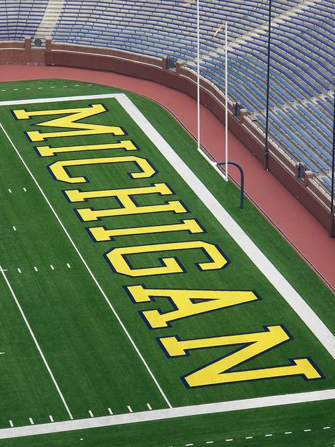 Working On Our Endzone Dance Goblue Michigan Go Blue Michigan Wolverines Football University Of Michigan Wolverines