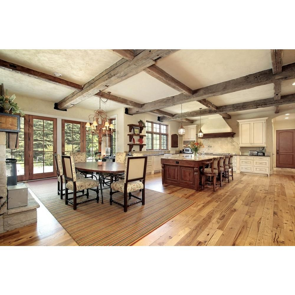 Natural Rustic Oak Smooth Solid Hardwood 3/4in. x 2 1