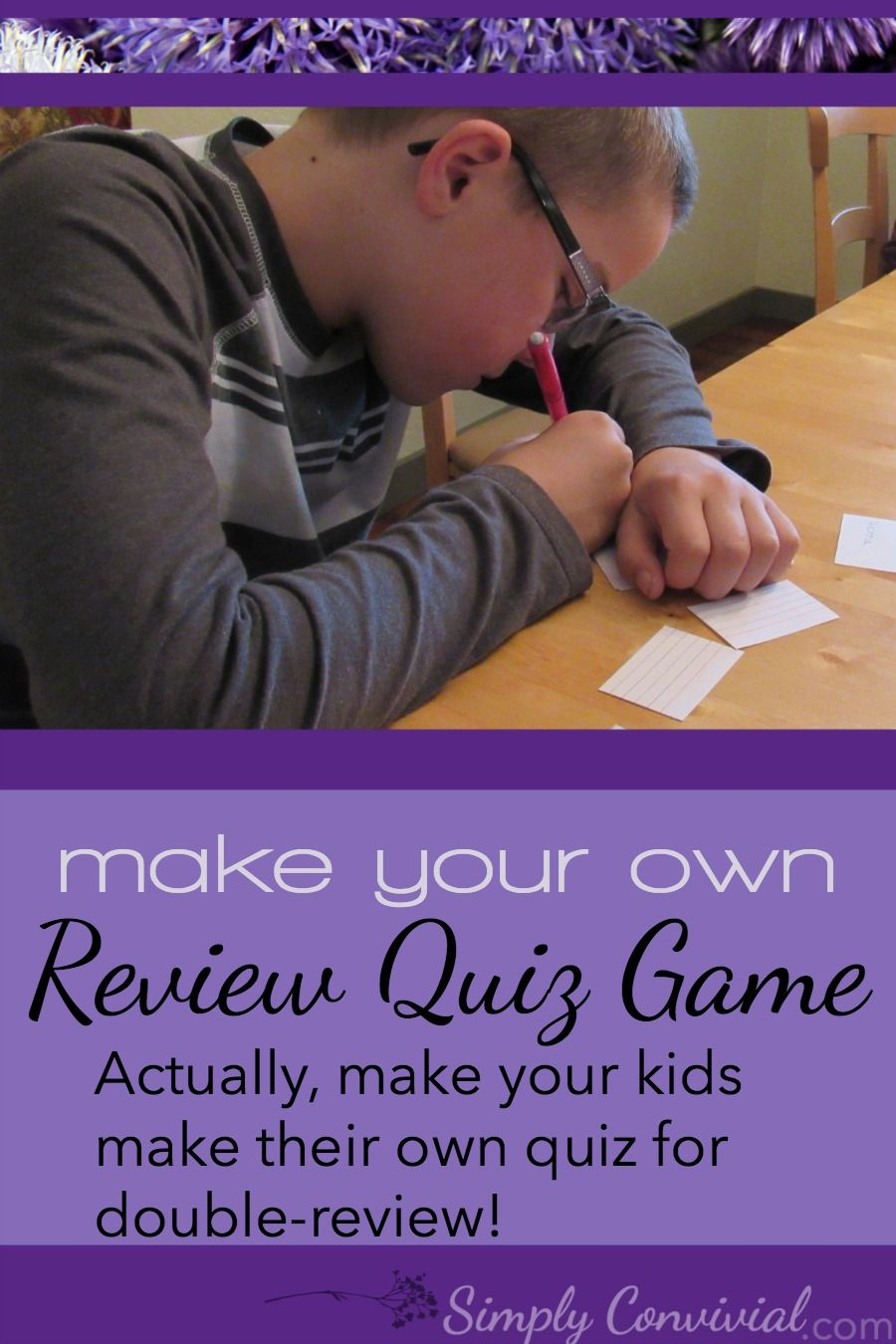 Review Quiz: Make it a fun & simple game! Also, make the kids do all the work. :) It's more effective than quizzes or tests and it doesn't take much time or effort. » Simply Convivial