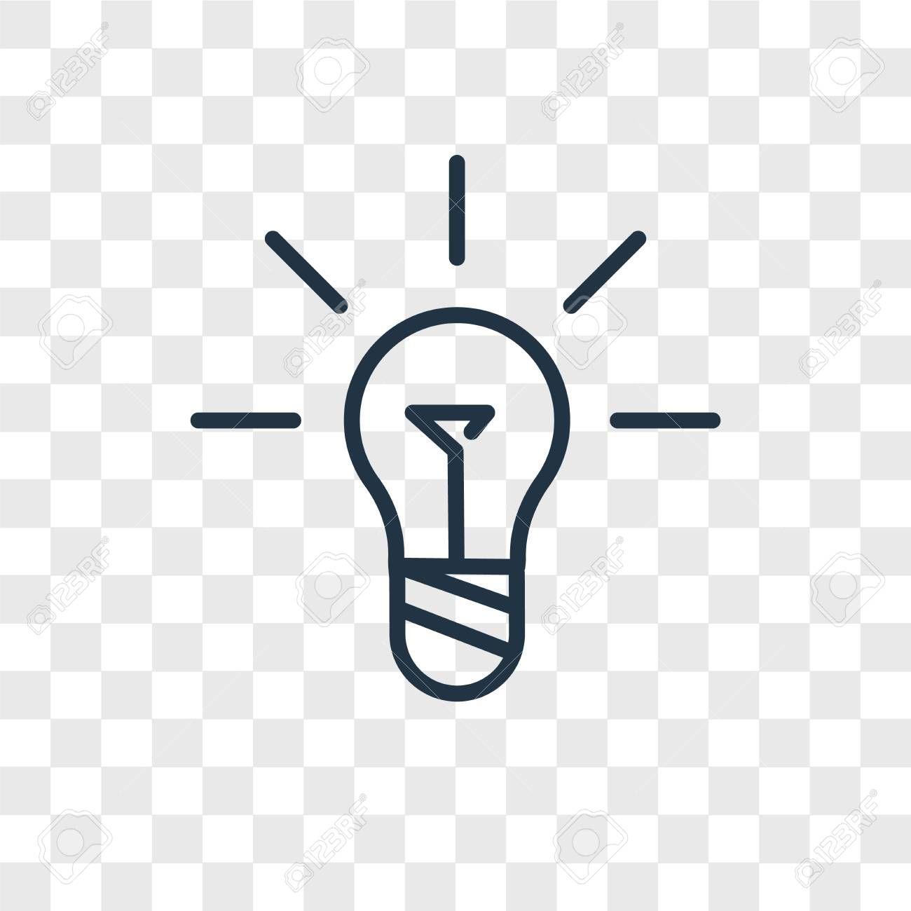 Idea Vector Icon Isolated On Transparent Background Idea Logo