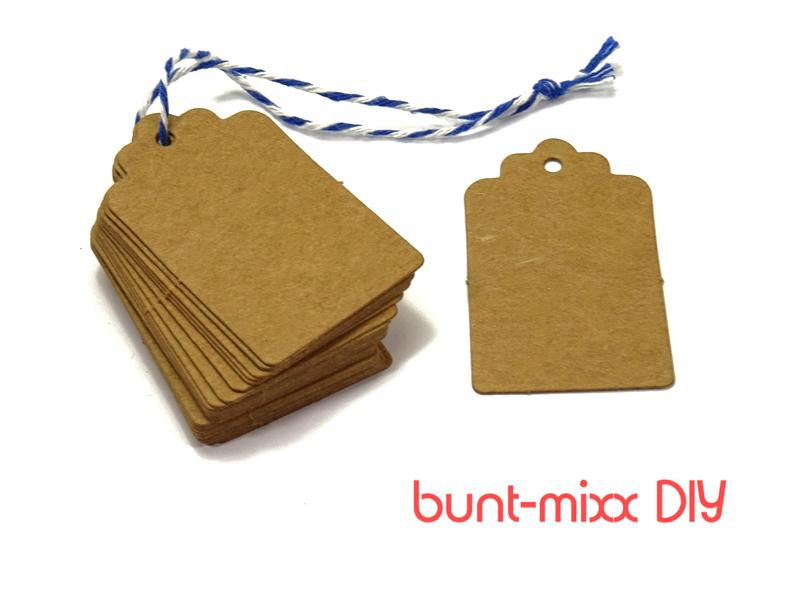guest gift gift wrap 25  100 pieces of quantity selection pendant kraft paper From 2.90 Euro gift tag natural beige