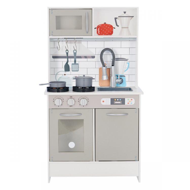 Little Chef Valencia Classic Play Kitchen Gray In 2020 Play Kitchen Sets Kitchen Sets Kids Wooden Play Kitchen