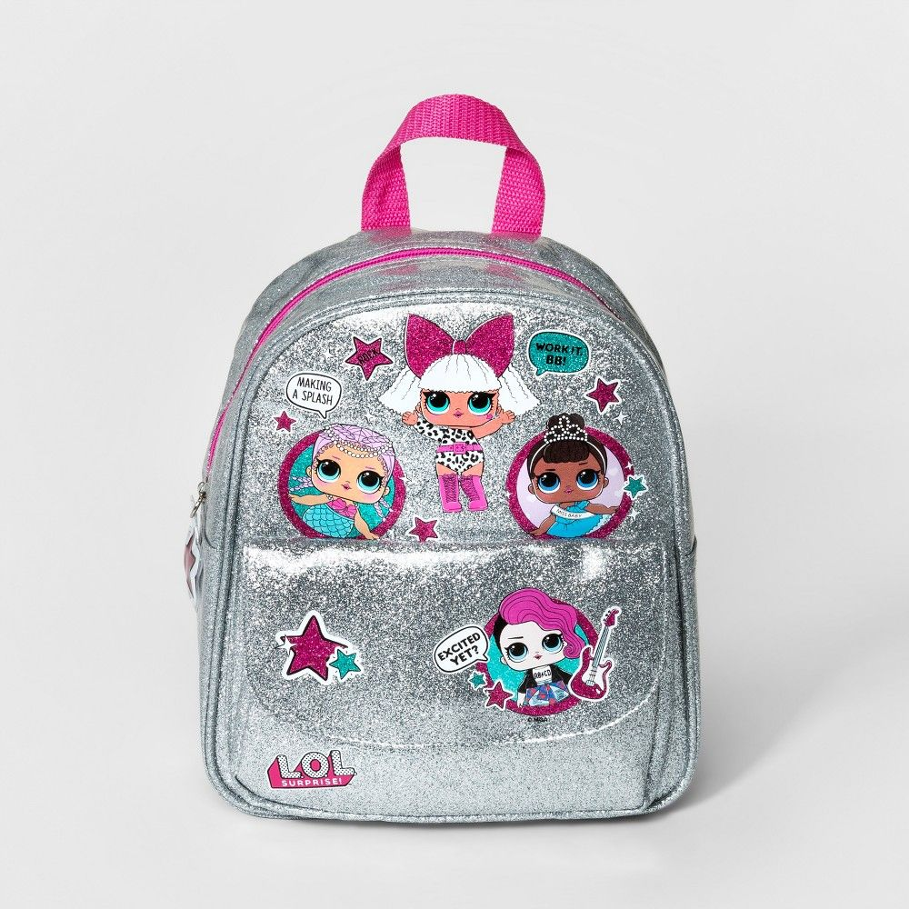Girls' L.O.L. Surprise! 'Sparkle Time' Backpack Silver