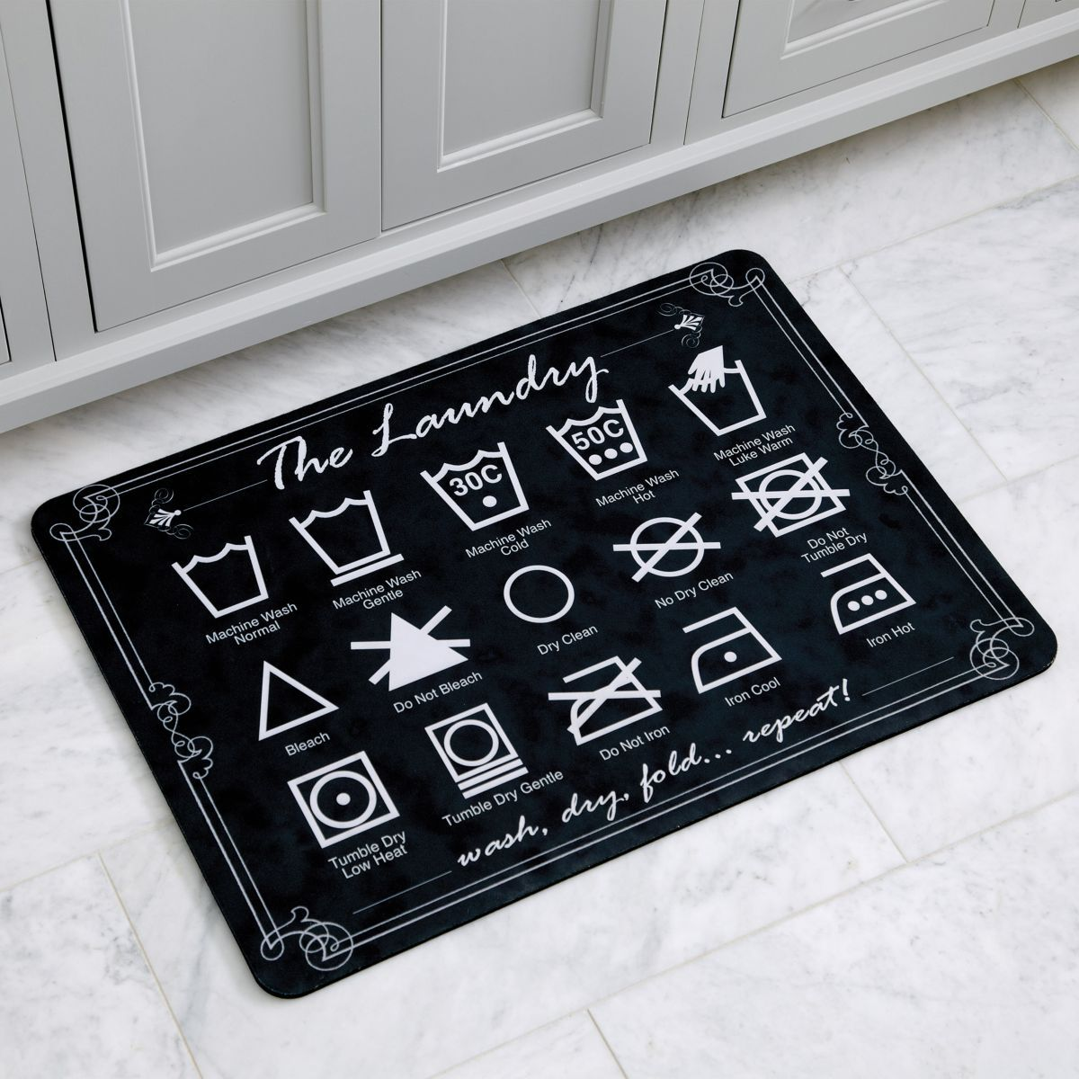 Laundry comfort mat where to buy pinterest laundry this comfy mat speaks the international language of laundry each symbol represents a different laundering instruction to make the everyday chore more fun buycottarizona Images