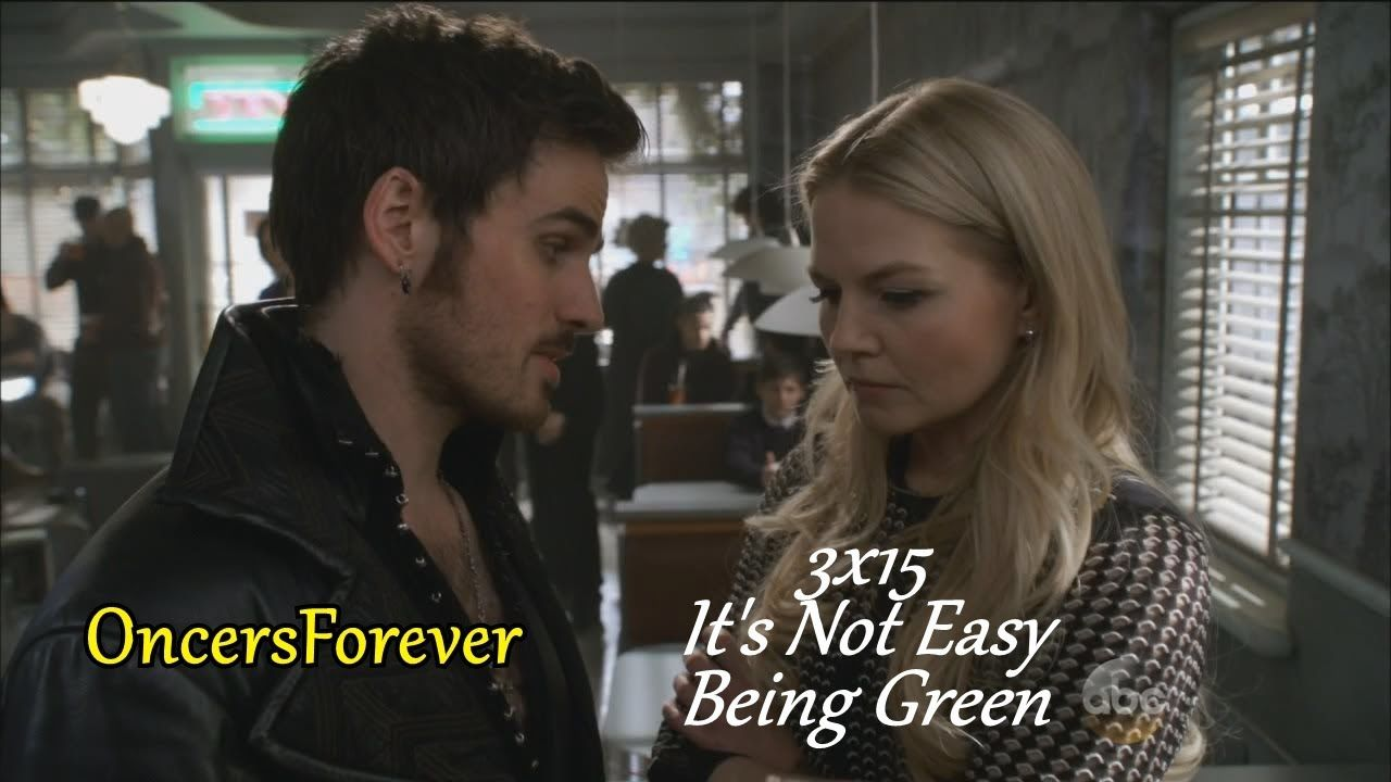 """Once Upon A Time 3x16  """"It's Not Easy Being Green"""" Hook & Emma   Offer t..."""