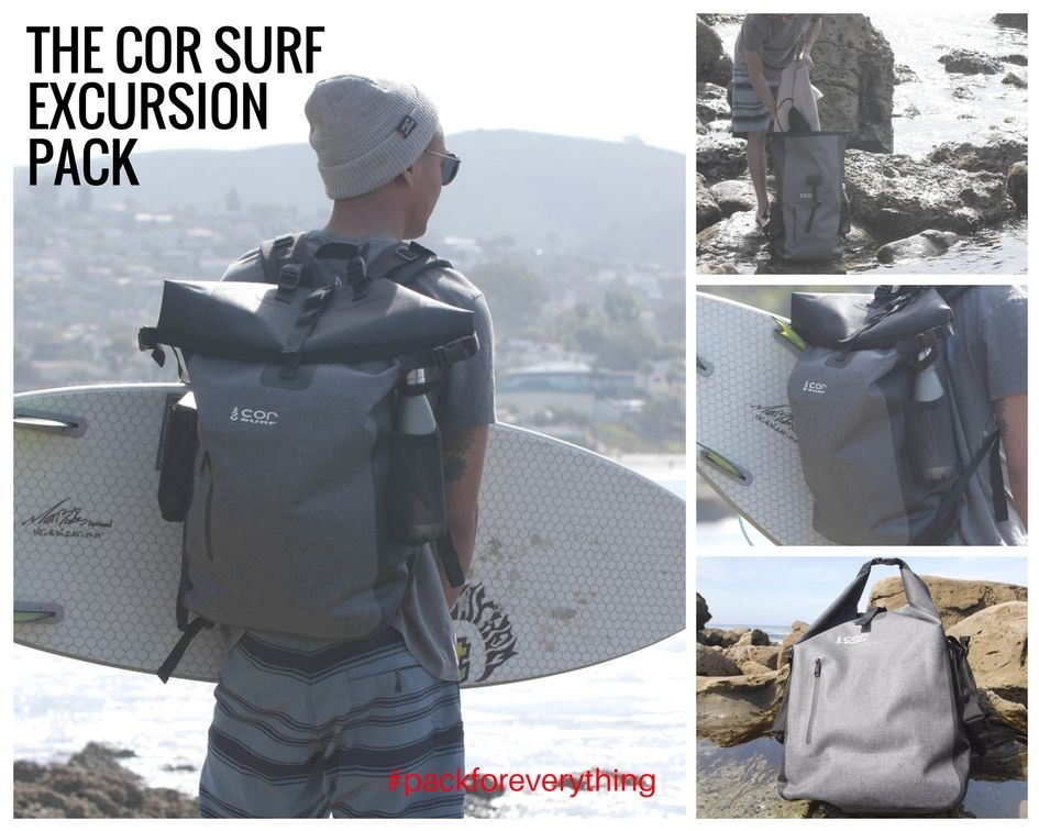 The COR Surf Excursion Pack. The Ultimate Waterproof Backpack. Ultralight ed674e6ee59d9