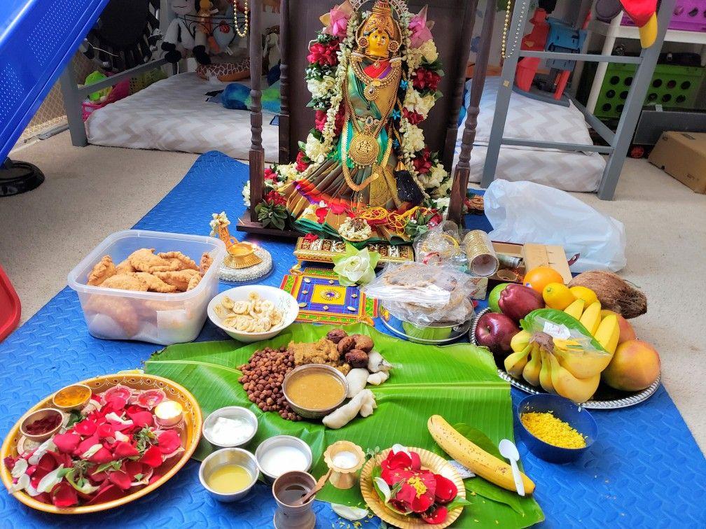 Varalakshmi pooja decoration 2018 | Decor, Table ...