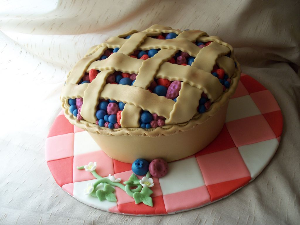Mixed berry pie cake a'la Andrea