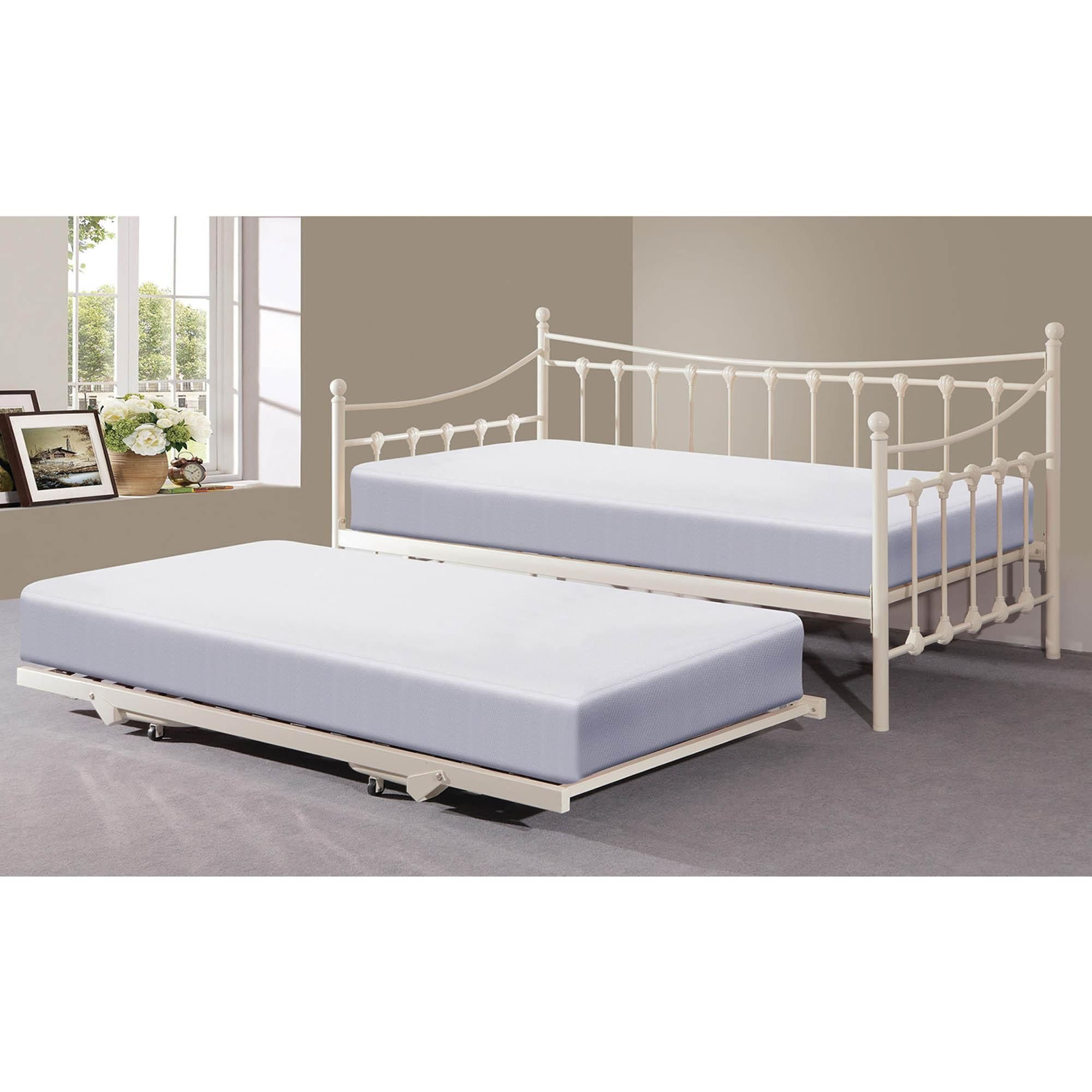 Memphis Black Day Bed With Trundle In 2020 White Daybed With