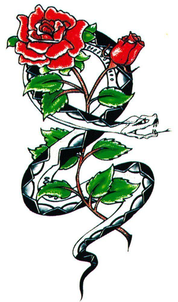 Картинка змея с цветком во лбу
