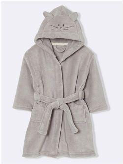 Robe De Chambre Enfant Polaire Chat Couture Petites Filles