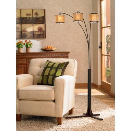 Nova Legna Triple Lantern Arc Floor Lamp With Images Arc Floor Lamps Floor Lamp Arched