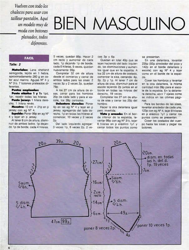 Patrones de chaleco para hombre. | sacos | Sewing, Sewing patterns y ...