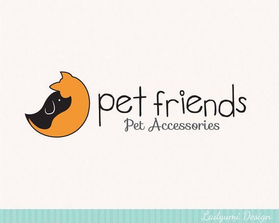 Cute Dog Cat Logo Branding Dog Walking Pet Sitting Design Pet