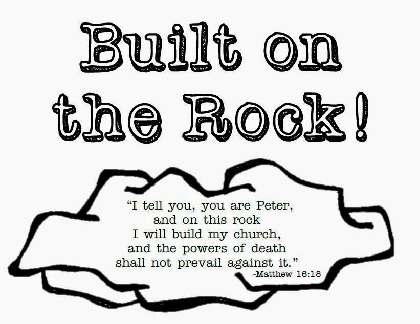 Built On The Rock Ccd Theme Printables Sunday School Coloring
