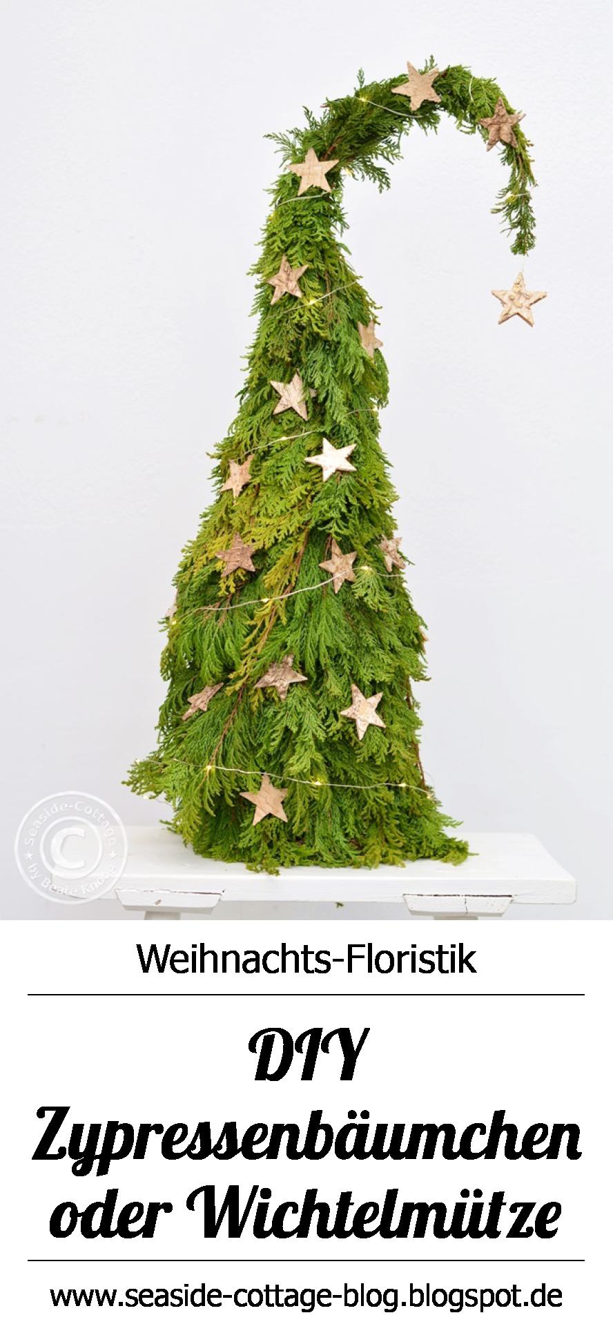 diy natrliche weihnachtsdeko selbermachen wichtelbumchen aus lebensbaum wwwseaside cottage blog - Diy Weihnachtsdeko Blog