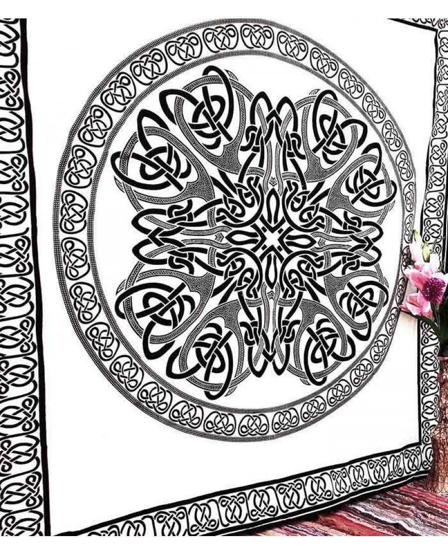 Large Tapestry Wall Hangings white black psychedelic meditation indian mandala tapestry wall