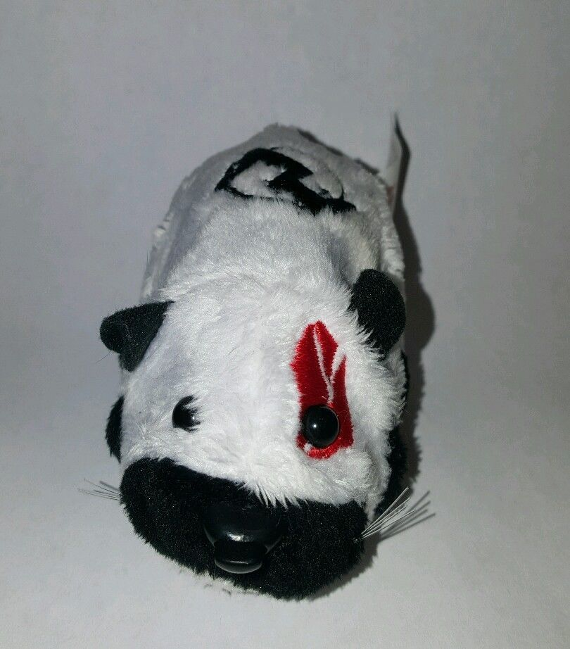 Zhu Zhu Pet Hamster Yama Black White With Name Tag Tested And Working Pets Hamster Interactive Toys