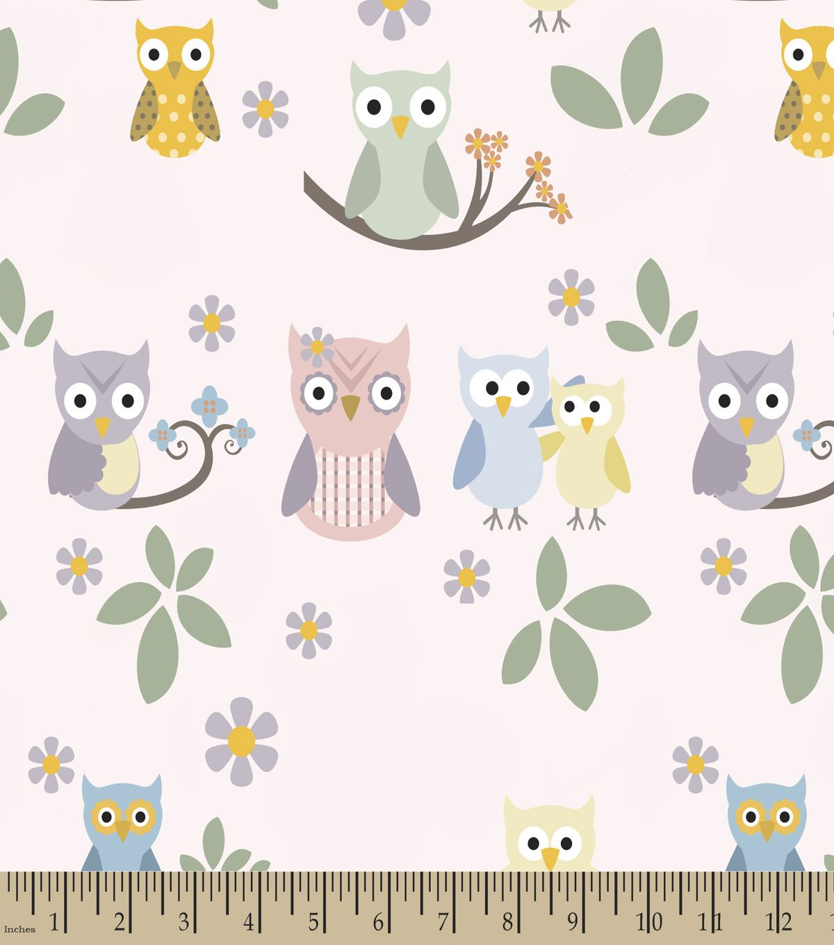 Family owls print fabric products pinterest owl print and products