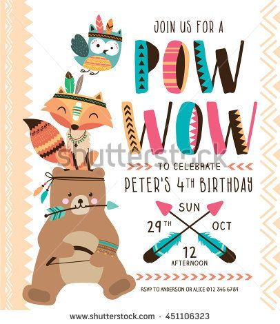 Kids birthday party invitation card with cartoon animals tarjeta kids birthday party invitation card with cartoon animals filmwisefo Image collections