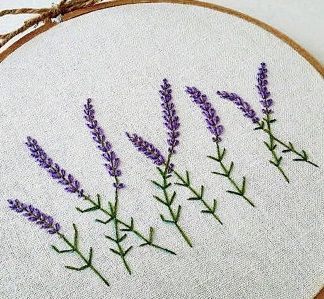 Lavender On Canvas Needlework Embroidery Embroidery Hoop Wall Art Embroidery Hoop Wall