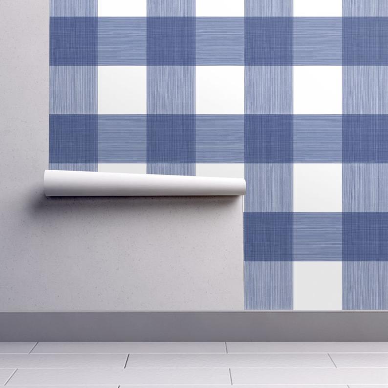 blue plaid wallpaper Google Search Plaid wallpaper