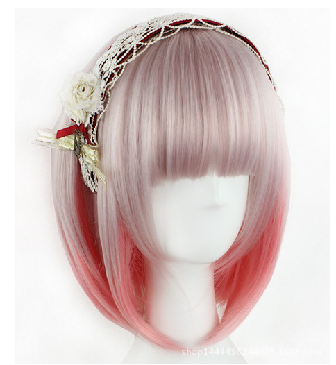 Japanese harajuku gradient wig