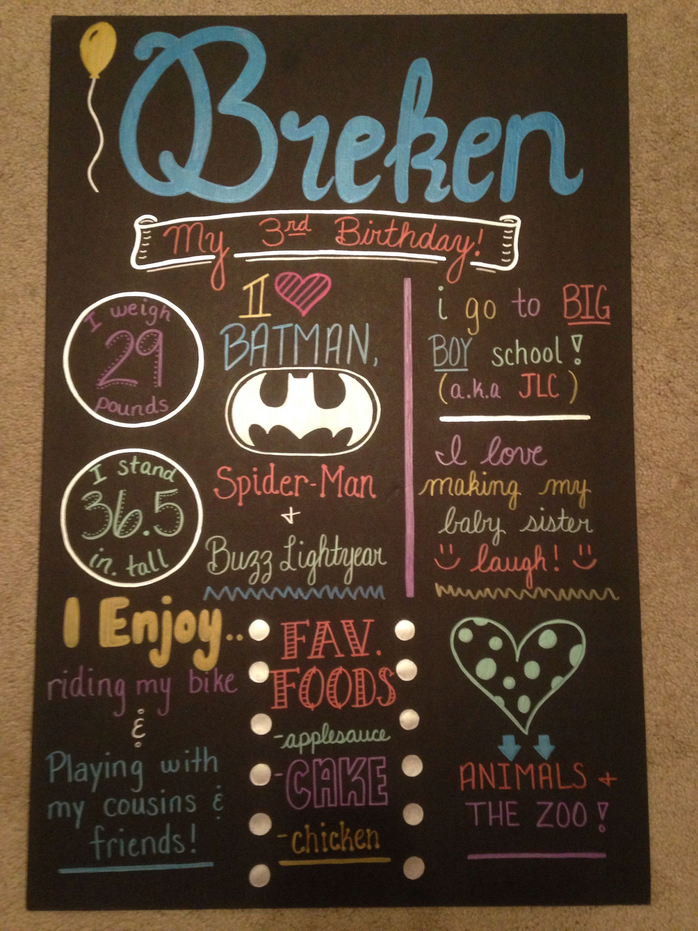 Birthday sign handmade and created by me jacey knight