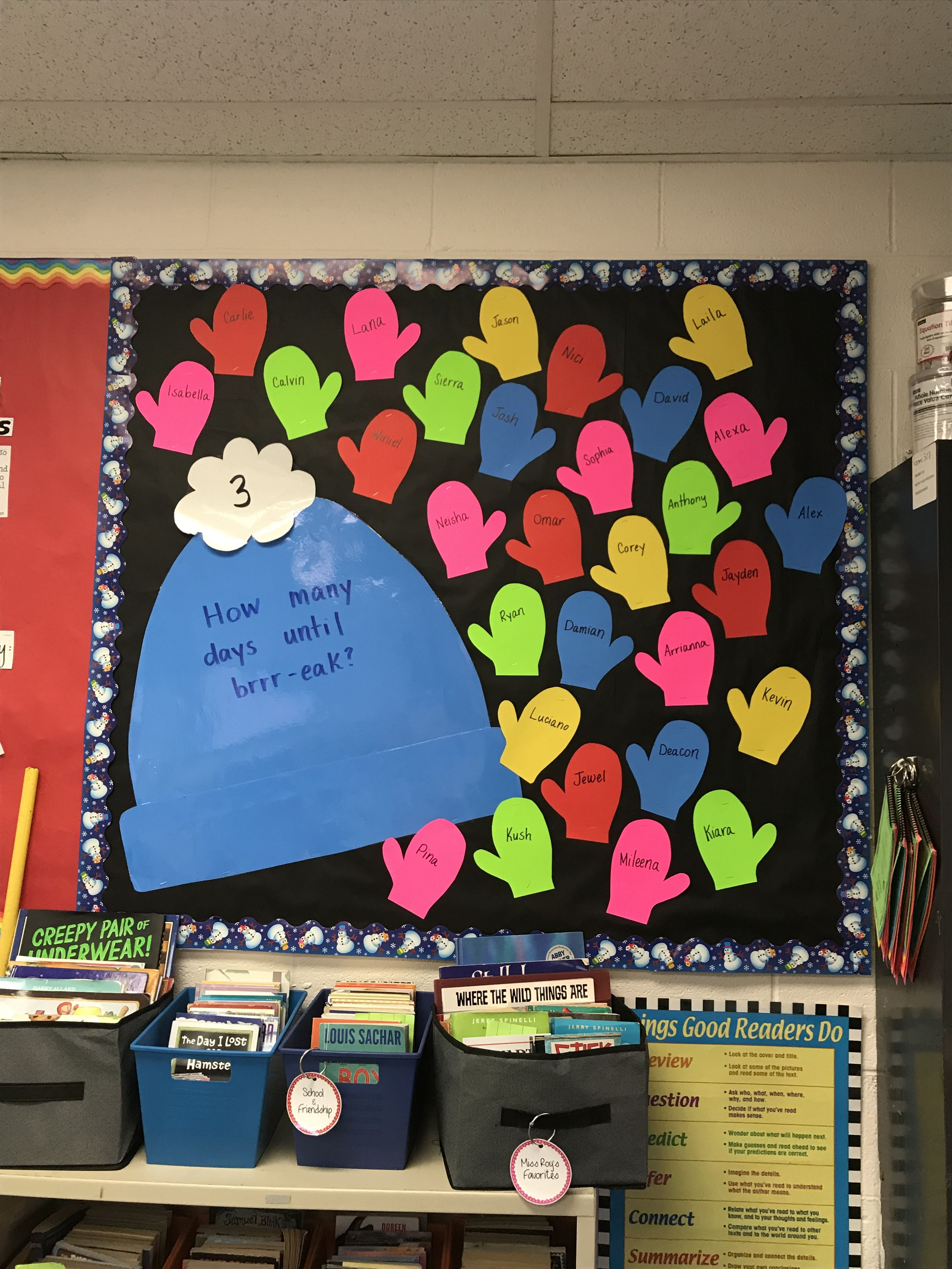 Easy And Simple Interactive Bulletin Board For Winter