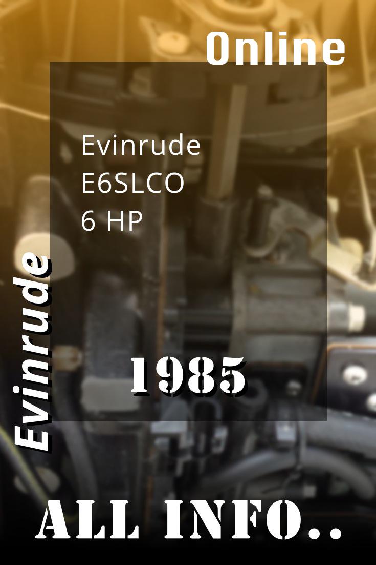 1985 E6slco Evinrude 6hp Outboard Motor Service Manual Download Repair Manuals Repair And Maintenance Outboard