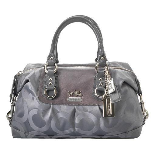 87497507c8 COACH MADISON GREY OP ART SIGNATURE C SMALL SABRINA TOTE BAG PURSE SATCHEL # Coach #HandbagPurseTotesSatchel