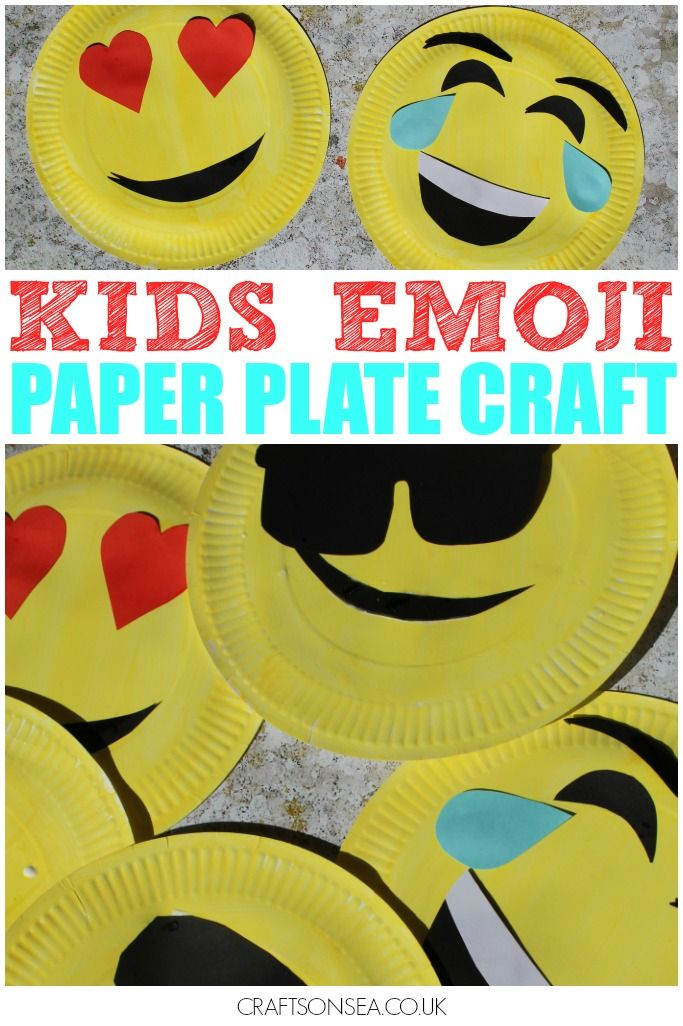 Paper Plate Emoji Craft For Kids Emoji Craft Paper Plate Crafts For Kids Easy Arts And Crafts