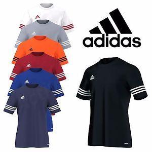 88571e1c3 Adidas Mens T Shirt Football Training Top Gym Climalite Entrada Size M L XL  XXL