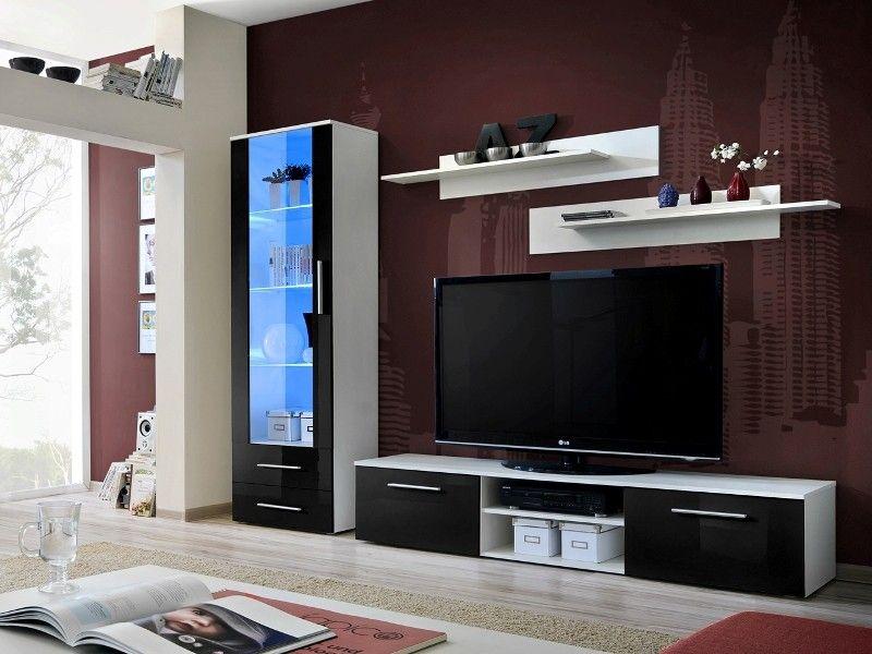 Montrose 3 Meuble Tv Haut Wall Unit Living Room Wall Units Modern Wall Units