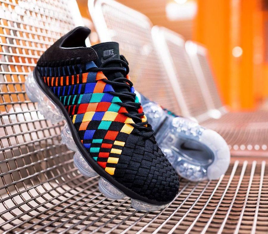 Review : Nike Air VaporMax Inneva noire 'Black Rainbow Multicolor ...