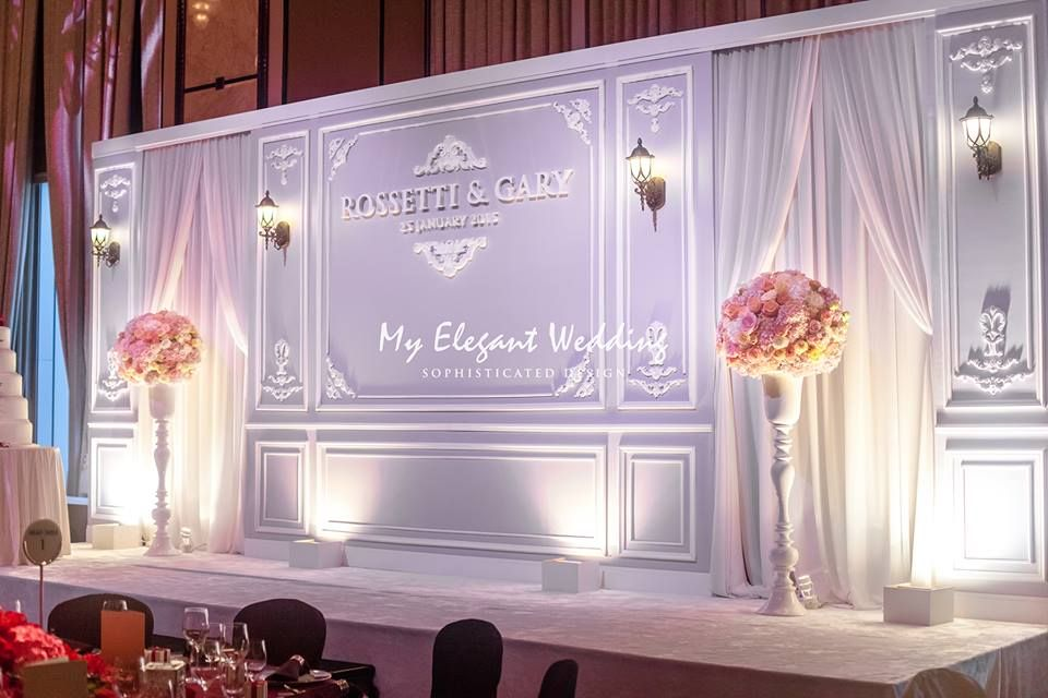wedding stage decoration pics%0A Elegant wedding backdrop