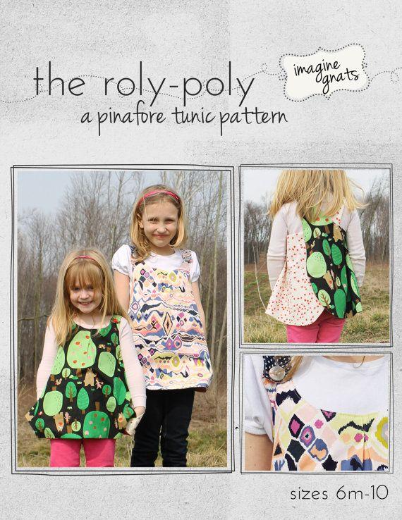 el RolyPoly un patrón de túnica Pichi por imaginegnats en Etsy