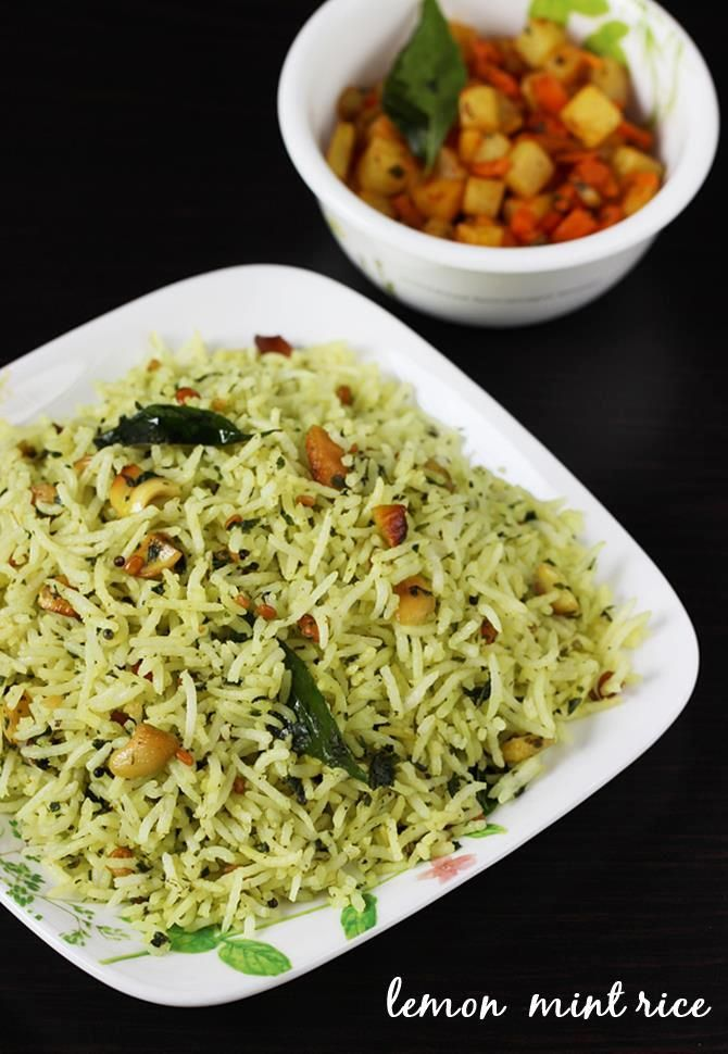 Lemon pudina rice recipe lemon mint rice recipe rice lemon indian food recipes forumfinder Image collections