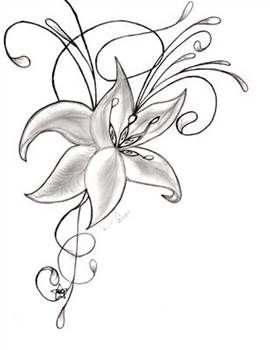 Easy Sketches Of Flowers