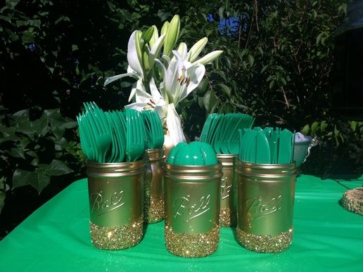 Green And Gold Engagement Party Decorations Wedding Decoration