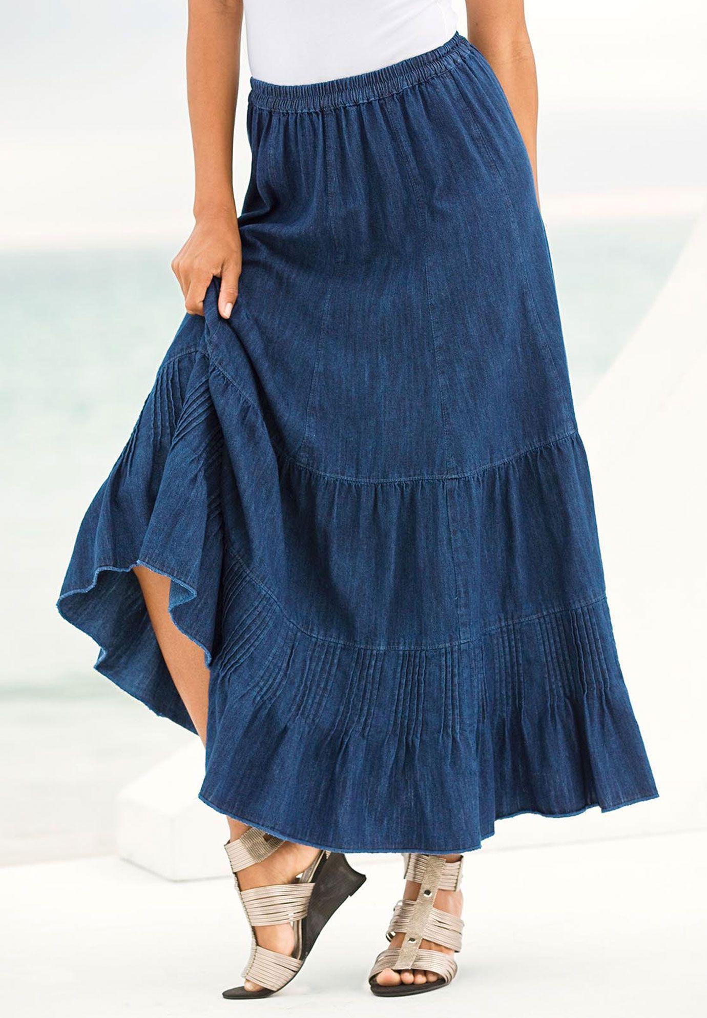 plus size provencial denim skirt plus size dresses