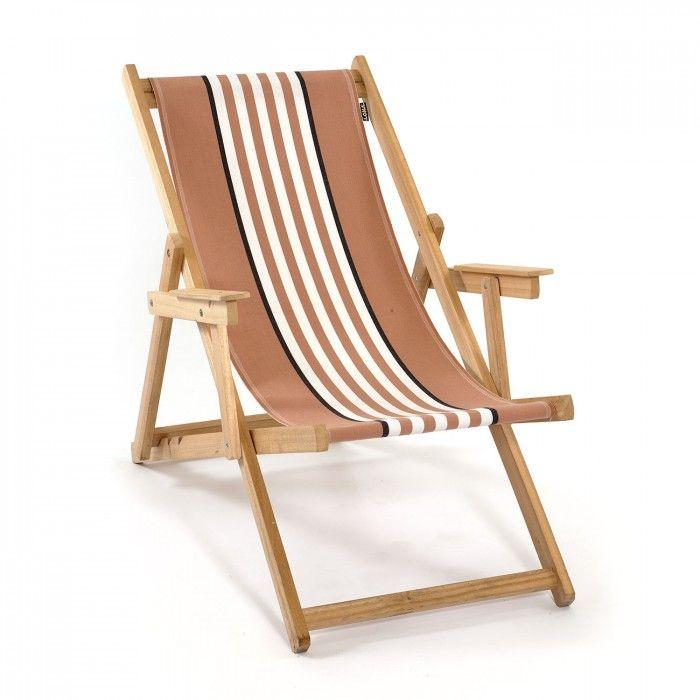 Para ir a la playa también a la moda, silla de playa Mimub marrón