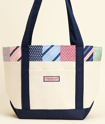 WANT!!     Vineyard Vines classic Tote Stripe Patchwork